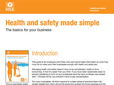 HSE workplace guidelines