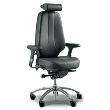 ergonomic RH logic 400 24 hour chair in black leather