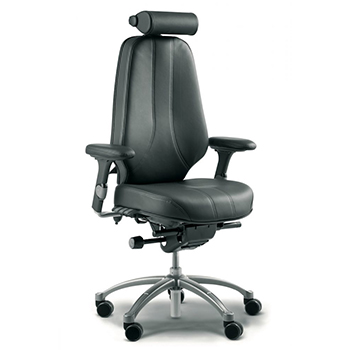 ergonomic RH logic 400 24 hour chair in black leather