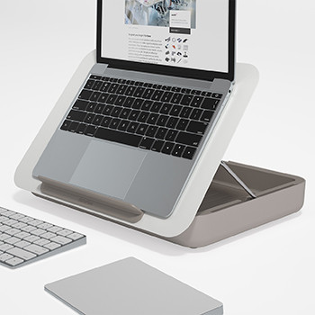Bento ergonomic desk set and laptop stand