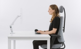 Posture people, desk ergonomics, studio, sitting correctly