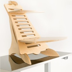 Eiger Pro Wooden Standing Desk without anything on it
