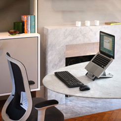 Home office chair bundle with laptop stand