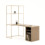 allermuir at home crate desk with open storage