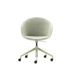 Kin chair with fully upholstered back and arm support
