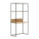 Crate compact desk with upstand and shelving