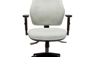 Orthopaedica Office chair in grey fabric