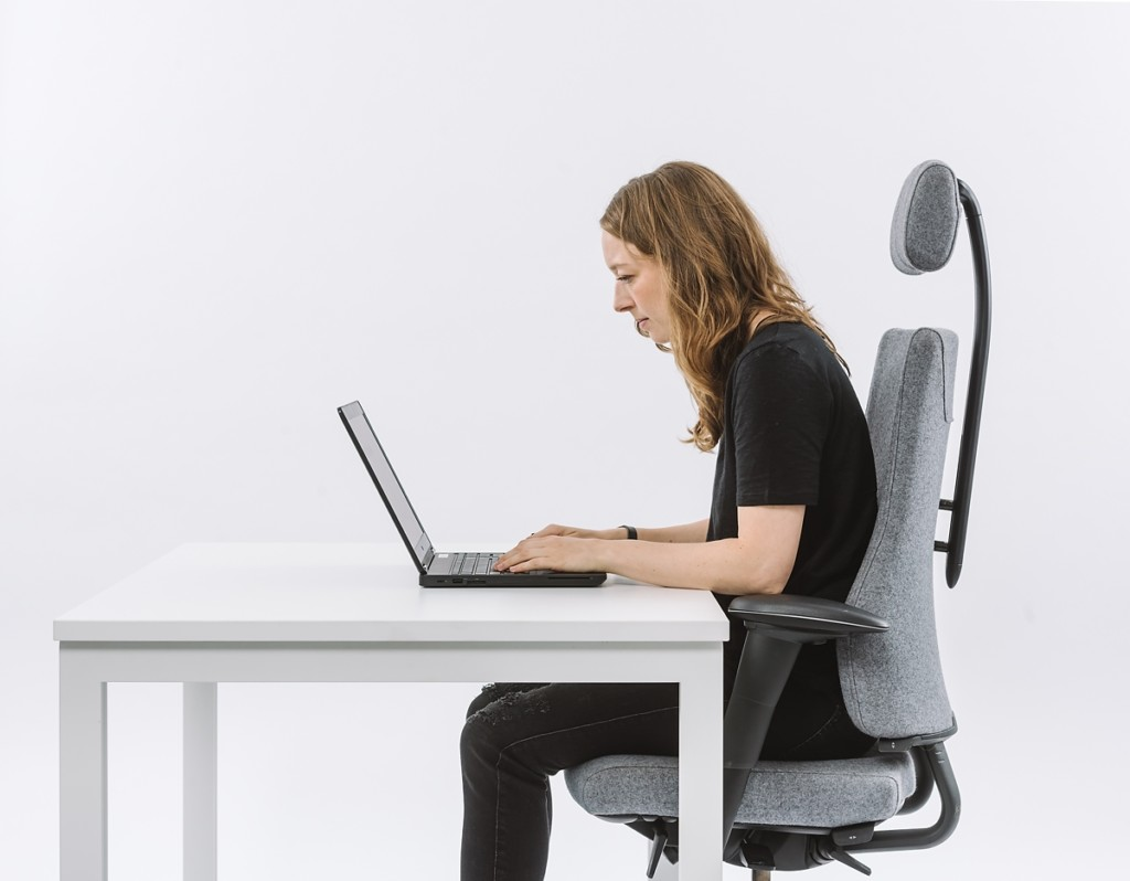 Neck pain from using a laptop